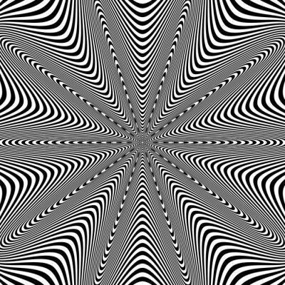 Наклейка Опт искусства иллюстрации для вашего дизайна. Оптическая иллюзия. Абстрактный фон. Используйте для карт, приглашения, обои, узоры, веб-страниц и т.д. элементов