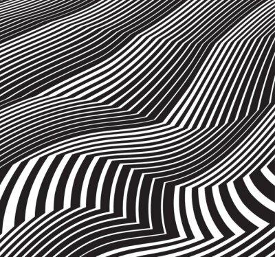 Наклейка оптическое искусство фон абстрактные произведения искусства полутоновое черно-йота