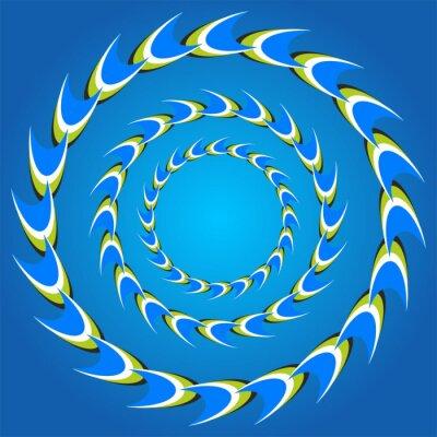 Наклейка оптическая иллюзия круг хвосты