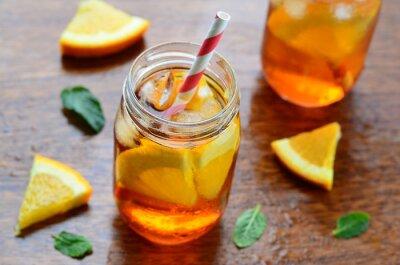 Наклейка Оранжевый холодный напиток