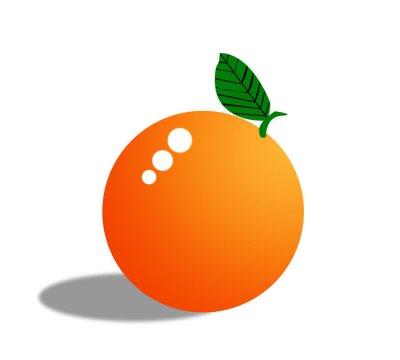 Наклейка Оранжевые фрукты, изолированные