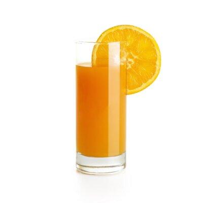 Наклейка Апельсиновый сок с ломтик