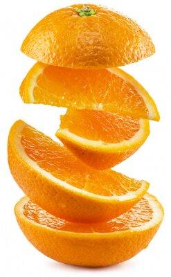 Наклейка Дольками апельсина на белом фоне.
