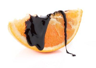 Наклейка апельсиновые дольки с растопленным шоколадом потоков