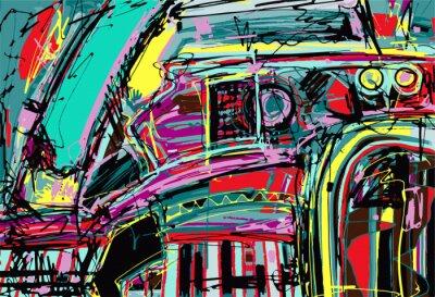 Наклейка Оригинальный цифровой живописи абстракции состава