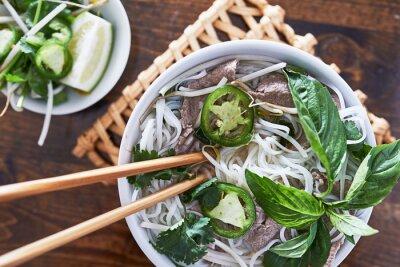 Наклейка Накладные фото есть вьетнамский говядины фо