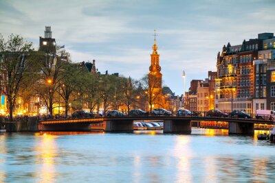 Наклейка Обзор Амстердам Munttoren