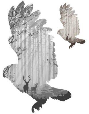 Наклейка сова