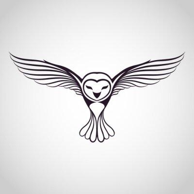 Наклейка сова логотип