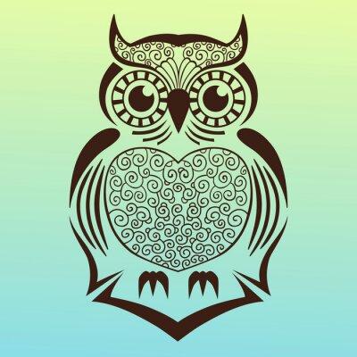Наклейка owl.vector иллюстрации.