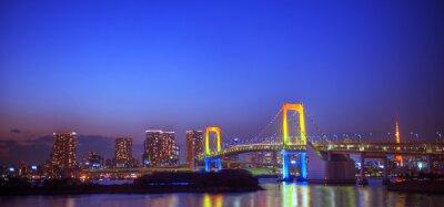 Наклейка Panaroma освещенных Токио