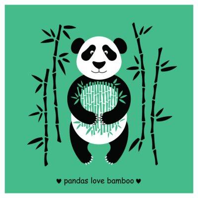 Наклейка Панды несут плоские. Panda животных изолированы.