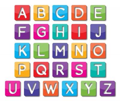 Наклейка бумага заглавные буквы