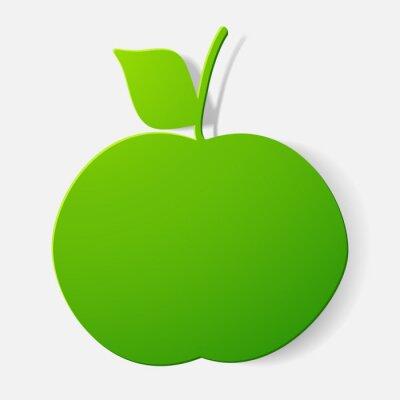 Наклейка Бумажные наклейки стриженых: фрукты, яблоко