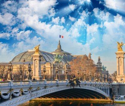 Наклейка Париж здания и достопримечательности