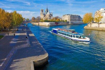 Наклейка Париж, La Seine и др Нотр-Дам-вю дю Понт-де-ла-Tournelle