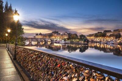 Наклейка Париж - Мост Искусств