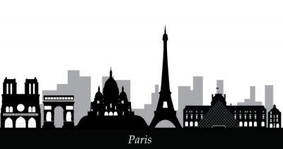 Наклейка Париж на фоне неба