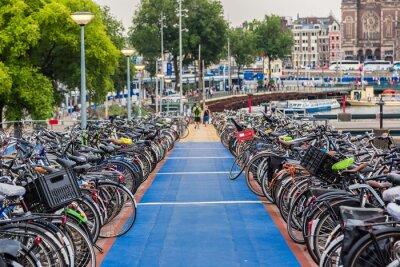 Наклейка Парковка для велосипедов в Амстердаме