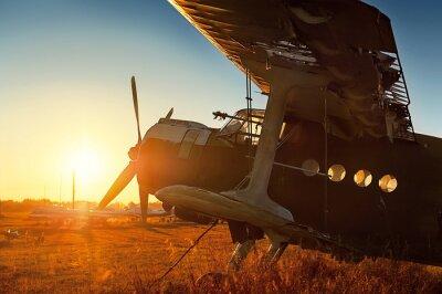 Наклейка ретро стоянки воздушных судов