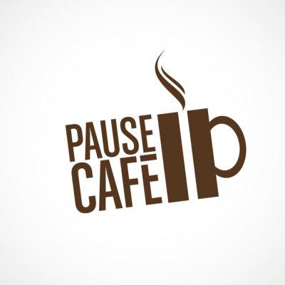 Наклейка пауза кафе