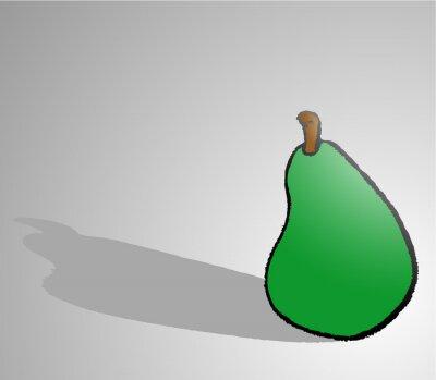 Наклейка pear draw