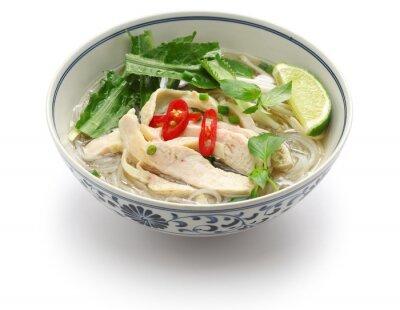 Наклейка фо га, вьетнамская куриный суп с лапшой риса
