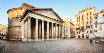 Наклейка Piazza della Rotonda e il Pantheon, Roma