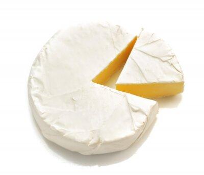 Наклейка кусок сыра, сыра, изолированные на белом