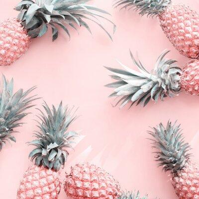 Наклейка Pine Apple Tropical Fruit Pink Natural Organic
