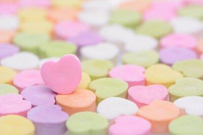 Наклейка Розовый Cndy Сердце