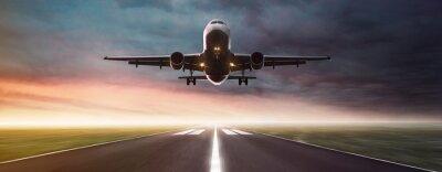 Наклейка Самолет в полете