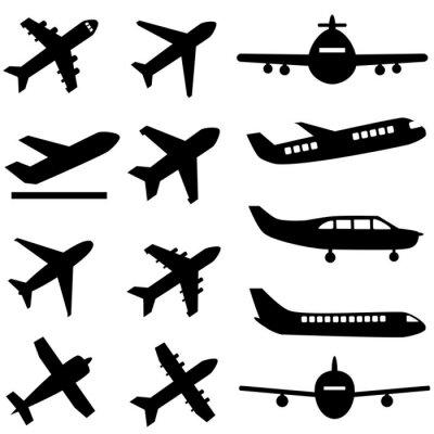 Наклейка Самолеты в черный