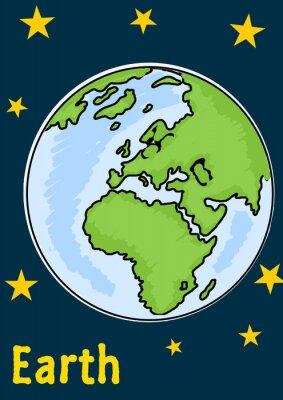 Наклейка Планета Земля