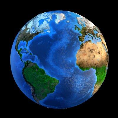 Наклейка Рельефа Planet Earth