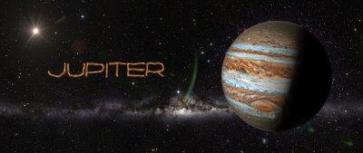 Наклейка Планета Юпитер в космическом пространстве.