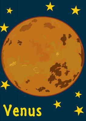Наклейка Планета Венера