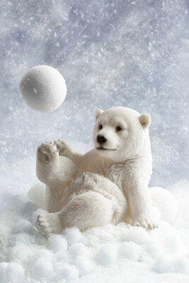 Наклейка Полярный медведь украшения