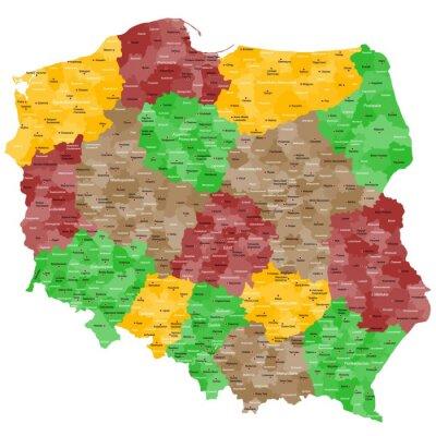Наклейка Польша Landkarte им Подробно