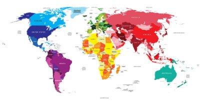 Наклейка Политическая карта мира