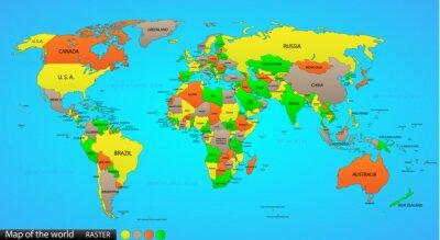 Наклейка Политической карте мира