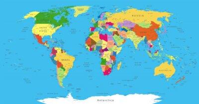Наклейка Political World Map