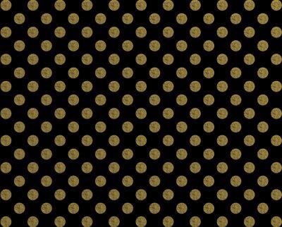 Наклейка Полька узор золотая точка