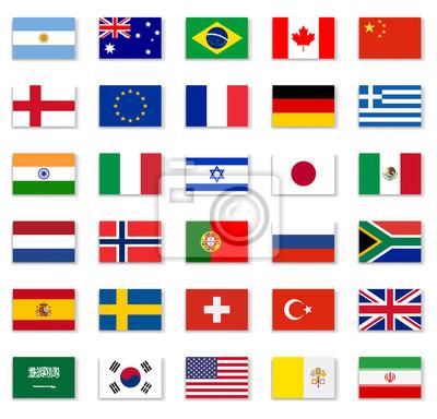 Наклейка Popular Flag Collection