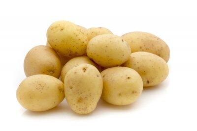 Наклейка Potatoes on the white background.  New harvest.