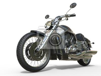 Наклейка Мощные старинных мотоциклов - близком расстоянии