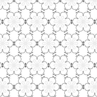 Наклейка Примитивные просто серый ретро бесшовные шаблон