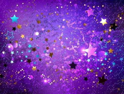 Наклейка Фиолетовый фон со звездами