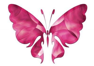 Наклейка Purple Butterfly / Schöner Schmetterling