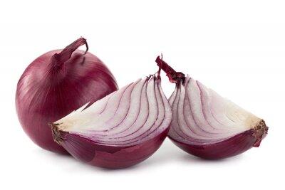 Наклейка Фиолетовый лук на белом